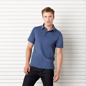 Unisex Jersey 5-button polo