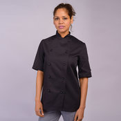Chef's jacket short sleeve with stud button (DD20CS)