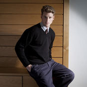 Lambswool v-neck jumper