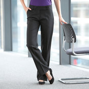 Women's polyester bootleg trousers