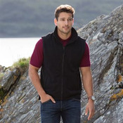 Sleeveless microfleece jacket