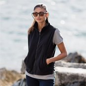 Women's sleeveless microfleece jacket
