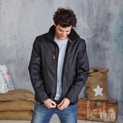 Score contrast detachable sleeve blouson jacket