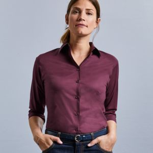 Ladies' 3/4 Sleeve Easy Care Fitted Shirt Vignette