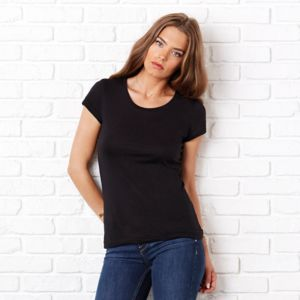 Sheer mini rib crew neck t-shirt Vignette