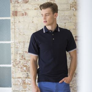 Double tipped collar and cuff polo shirt Vignette