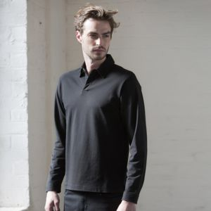 Long sleeve stretch polo Vignette