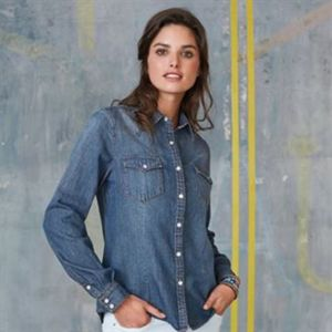 Women's long sleeve denim shirt Vignette