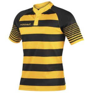 Junior touchline hooped match shirt Vignette