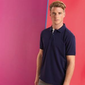 Men's classic fit contrast polo Vignette