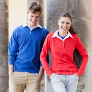Women's long sleeve plain rugby shirt Vignette
