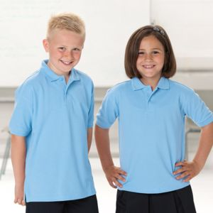 Kids hard-wearing polo shirt Vignette
