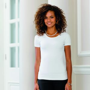 Women's short sleeve stretch top Vignette