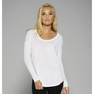 Flowy long sleeve t-shirt with 2x1 sleeves Vignette