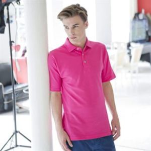 Classic cotton piqué polo with stand-up collar Vignette