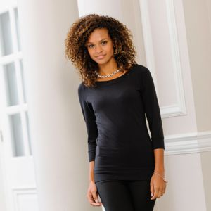Women's ¾ sleeve stretch top Vignette