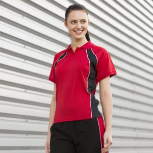 Women's Jersey team polo Vignette