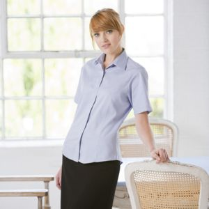 Women's short sleeved lightweight Oxford Vignette