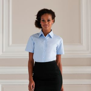Women's short sleeve Oxford shirt Vignette
