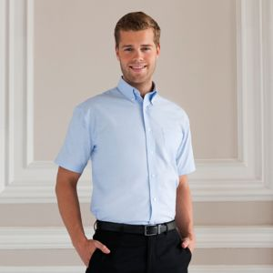Short sleeve easycare Oxford shirt Vignette
