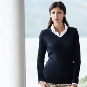 Women's 12 gauge v-neck jumper Vignette
