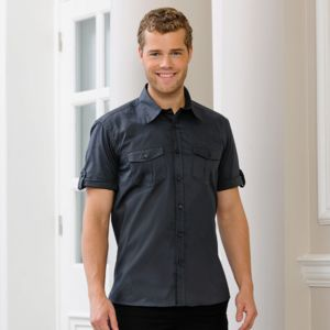 Roll-sleeve shirt short sleeve Vignette