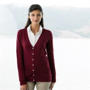 Women's v-button cardigan Vignette