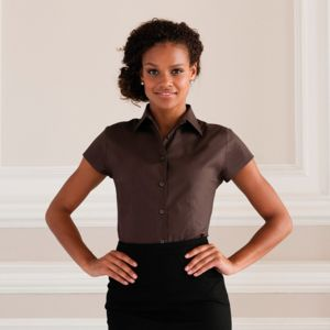 Women's short sleeve easycare fitted stretch shirt Vignette