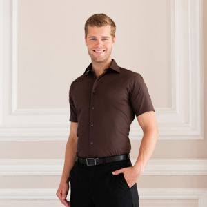 Short sleeve easycare fitted shirt Vignette