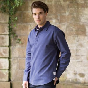 Long sleeve plain drill shirt Vignette