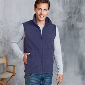 Luca zip-through microfleece gilet Vignette