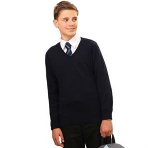 Kids v-neck fully fashioned jumper Vignette