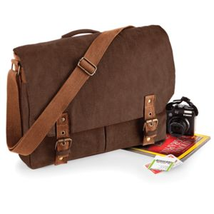 Quadra Vintage Canvas Satchel Messenger Vignette
