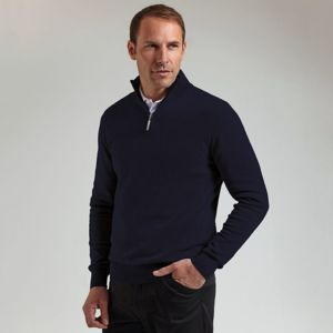 g.Devon zip-neck cotton sweater (MKC7381ZN-DEV) Vignette