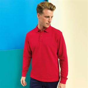 Men's classic fit long sleeved polo Vignette