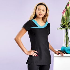Ivy beauty and spa tunic contrast neckline Vignette