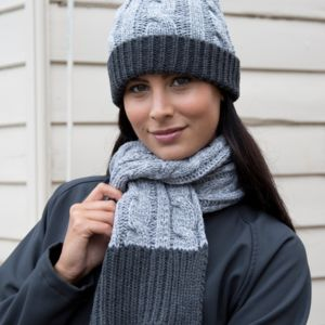 Result Winter Shades Of Grey Knit Scarf Vignette