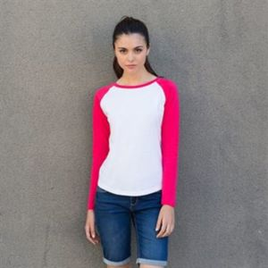 Women's long sleeve baseball t-shirt Vignette