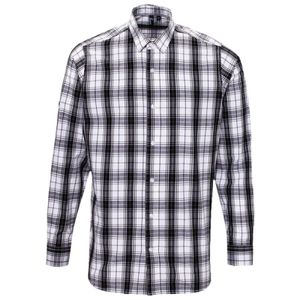 Ginmill check cotton long sleeve shirt Vignette
