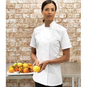 Women's short sleeve chef's jacket Vignette