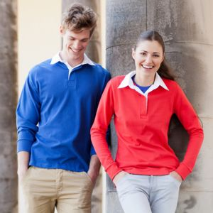 Long sleeve plain rugby shirt Vignette