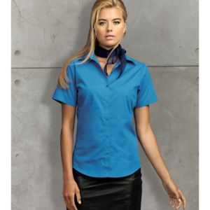 Women's short sleeve poplin blouse Vignette